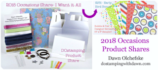 DOstamping 2018 Occasions Product Shares with Early Bird Bonus by 12/31 #dostamping #2018OccasionsCatalog #productshare