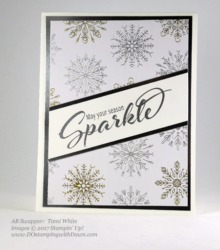 Stampin' Up! Add a Little Glitz stamp set shared by Dawn Olchefske #dostamping #stampinup #handmade #cardmaking #stamping #diy #rubberstamping (Tami White)