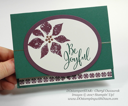 Stampin' Up! Be Joyful Christmas card shared by Dawn Olchefske #dostamping  #stampinup #handmade #cardmaking #stamping #diy #rubberstamping (Cheryl Owczarek)