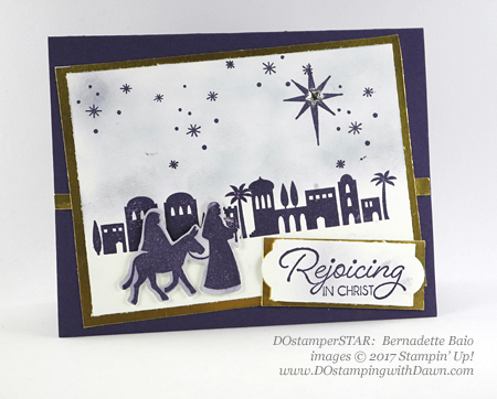 Stampin' Up! Night in Bethlehem stamp set and Bethlehem Edgelits Dies shared by Dawn Olchefske #dostamping #stampinup #handmade #cardmaking #stamping #diy #rubberstamping (Bernadette Baio)