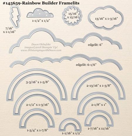 Stampin' Up! Rainbow Builder Framelit #dostamping #stampinup #RainbowBuilder #bigshot #diy #handmade #cardmaking