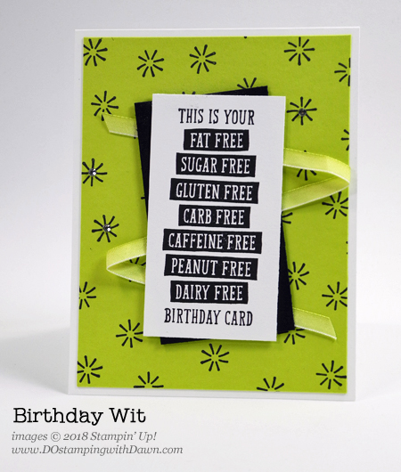 Stampin' Up! Birthday Witt card shared by Dawn Olchefske for DOstamperSTARS Thursday Challenge #DSC264 #dostamping #stampinup #handmade #cardmaking #stamping #diy #papercrafting #birthdaywitt #birthdaycards, rubberstamping