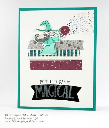 Stampin' Up! DOstamperSTARS Magical Day Bundle swap shared by Dawn Olchefske #dostamping #stampinup #handmade #cardmaking #stamping #diy #rubberstamping #papercrafting #DOstamperSTARS #2018OccasionsCatalog#birthdaycards #mythsandmagic (Anna Palmer)