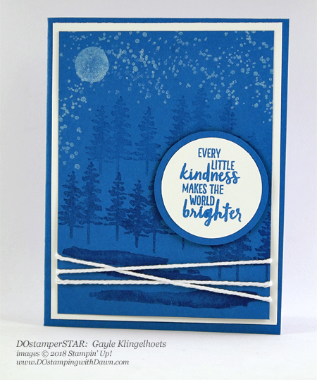 Stampin' Up! DOstamperSTARS Waterfront swap shared by Dawn Olchefske #dostamping  #stampinup #handmade #cardmaking #stamping #diy #rubberstamping #papercrafting #DOstamperSTARS #2018OccasionsCatalog #thankyoucards #waterfrontstampset (Gayle Klingelhoets)