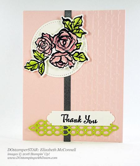 Stampin' Up! DOstamperSTARS Petal Palette Bundle swap shared by Dawn Olchefske #dostamping #stampinup #handmade #cardmaking #stamping #diy #rubberstamping #papercrafting #DOstamperSTARS #2018OccasionsCatalog #petalpalettebundle #thankyou (Elizabeth McConnell)