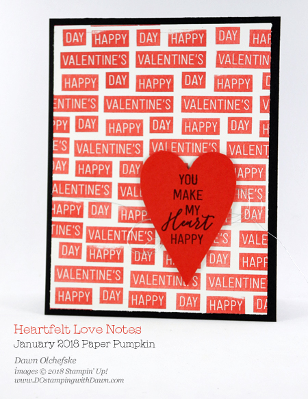 Heartfelt Love Notes January 2018 Paper Pumpkin Kit ideas by Dawn Olchefske #stampinup #paperpumpkin #cardmaking #cardkit #rubberstamping #diy #heartfeltlovenotes #valentinesdaycards #happyvalentinesday #love