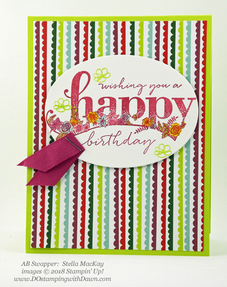 Stampin' Up! Sale-a-Bration Happy Wishes swaps shared by Dawn Olchefske #dostamping  #stampinup #handmade #cardmaking #stamping #diy #rubberstamping #papercrafting #saleabration #birthdaycards #happywishes (Stella MacKay)