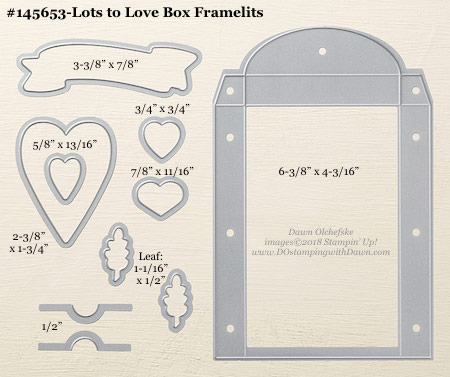 Stampin' Up! Lots to Love Box Framelit #dostamping #stampinup #LotstoLoveBox #bigshot #diy #handmade #cardmaking