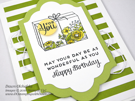 Control Freak Feb 2018 Blog Tour Cake Soiree card by Dawn Olchefske #dostamping  #stampinup #handmade #cardmaking #stamping #diy #rubberstamping #papercrafting, #cakesoire #stampinblends #birthdaycards