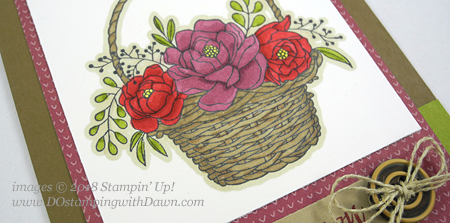 Stampin' Up! Sale-a-bration Blossoming Basket shared by Dawn Olchefske #dostamping  #stampinup #handmade #cardmaking #stamping #diy #rubberstamping #papercrafting #blossomingbasketbundle #stampinblends #saleabration