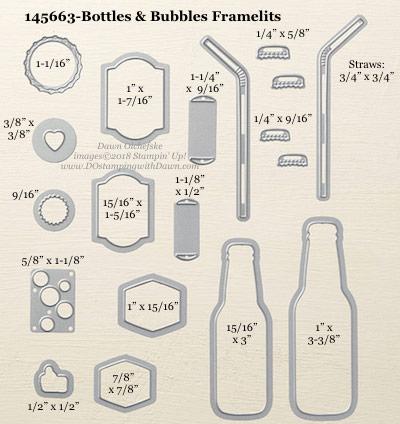 Stampin' Up! Bottles & Bubbles Framelit #dostamping #stampinup #BottlesandBubbles #bigshot #diy #handmade #cardmaking