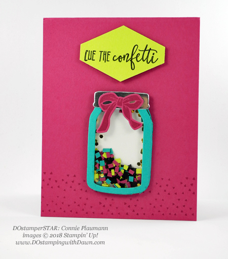 Stampin' Up! Picture Perfect Birthday Stamp Set, Tailored Tag Punch and Everyday Jar Framelit Dies shared by Dawn Olchefske #dostamping  #stampinup #handmade #cardmaking #stamping #diy #rubberstamping #papercrafting (Connie Plaumann)