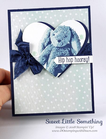 Stampin' Up! Sweet Little Something card shared by Dawn Olchefske #dostamping #stampinup #handmade #cardmaking #stamping #diy #rubberstamping #papercrafting #eastercards #babycards #sweetlittlesomething