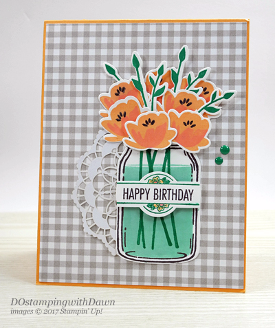 Stampin' Up! Jar of Love Bundle and That's the Tag Bundle card shared by Dawn Olchefske