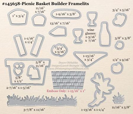 Stampin' Up! Picnic Basket Builder Framelit #dostamping #stampinup #PicnicBasketBuilder #bigshot #diy #handmade #cardmaking