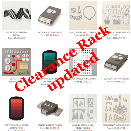 Stampin' Up! Clearance Rack updated - discounts up to 60% off #stampinup #dostamping #shopwithdawn http://www.stampinup.com/ECWeb/default.aspx?dbwsdemoid=61500
