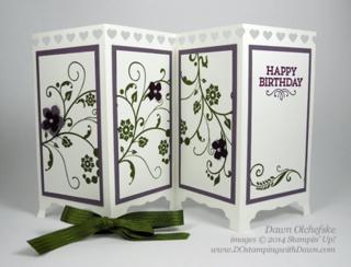 #dostamping #stampinup #cardmaking #howdsheDOthat #papercrafting #diy #screendivider #floweringflourishes #fancyfold