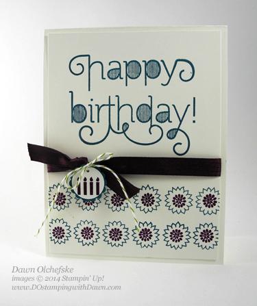 #cardmaking #dawnolchefske #diy #dostamping #papercrafting #stampinup  #dostamperstars #thursdaychallenge #colorchallenge #cardmaking #DSC102 #borderingblooms #ageawareness #birthday
