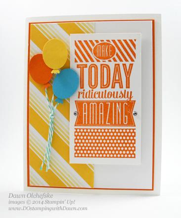 #dostamping #dawnolchefske #stampinup  #stampinup  #papercrafting #cardmaking #diy #amazingbirthday #punchart