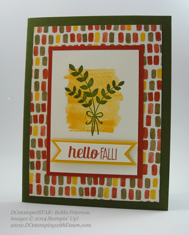 #cardmaking #dawnolchefske #diy #dostamping #papercrafting #stampinup #colormeautumn #forallthings