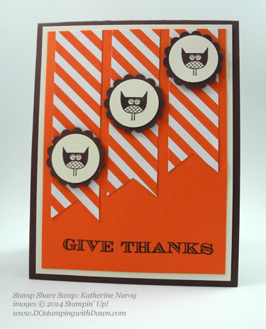 #cardmaking #dawnolchefske #diy #dostamping #papercrafting #stampinup #2014holidaycatalog #freakyfriends #halloween