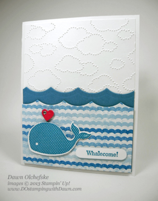 stampin up, dostamping, dawn olchefske, demonstrator, spring catalog, Happy Whale, Oh Whale, Sunshine & Sprinkles, Cloudy Day, Big Shot