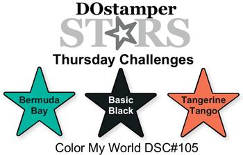#dostamping #stampinup  #stampinup  #papercrafting #cardmaking #diy  #DOstamperSTARS #DSC105 #colorchallenge