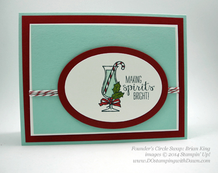 Founder's Circle swap with Stampin' Up!'s Making Spirits Bright, shared by Dawn Olchefske, dostamping  #christmas #cardmaking #stampinup