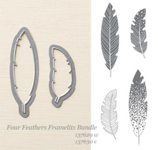 #stampinup #framelits Four Feathers Framelits Bundle