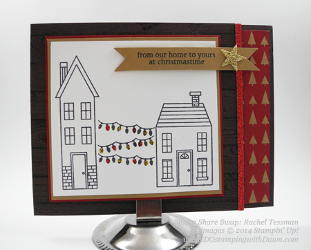 Stamp Share for Leader Holiday Home swap card  shared by Dawn Olchefske, #DOstamping #HolidayHome #stampinup