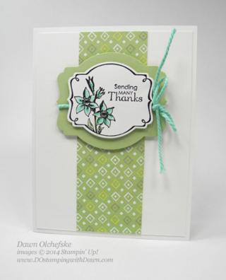Deco Label Framelit card by Dawn Olchefske #dostamping #stampinup #yourelovely