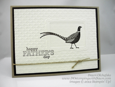 Double Texture Embossed card by Dawn Olchefske, #dostamping, autumn days stamp set #masculine