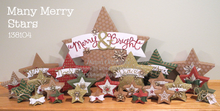 projects from Many Merry Stars Simply Created Kit, by Dawn Olchefske #dostamping #stampinup #christmasdecor