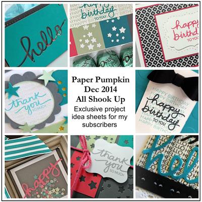 Dec 2014 All Shook Up Paper Pumpkin ideas from Dawn Olchefske #dostamping #stampinup