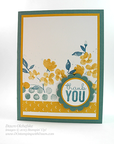 Painted Petals card designed by Dawn Olchefske for DOstamperSTARS Thursday Challenge #DSC114 #dostamping #stampinup