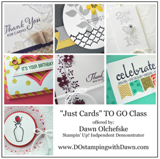 Dec 2014 Card Buffet Class TO GO offered by Dawn Olchefske, #dostamping #cardmakingkits #stampinup