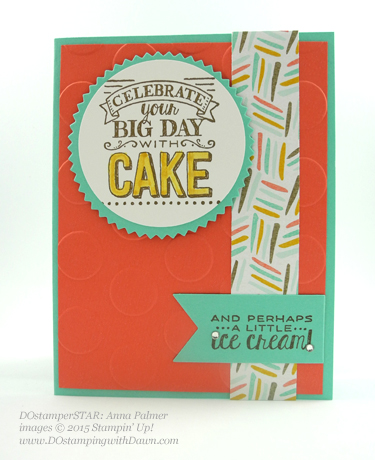 Stampin' Up! Sale a Bration swap cards shared by Dawn Olchefske, #dostamping #big day (Anna Palmer)