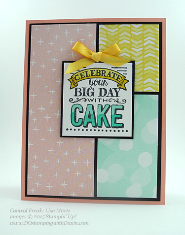 Stampin' Up! Sale a Bration swap cards shared by Dawn Olchefske, #dostamping #big day (Lisa Martz)