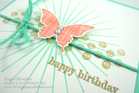 Are you looking for a quick & cute card design?  Check out this Kinda Eclectic QC card designed by Dawn Olchefske for DOstamperSTARS Thursday Challenge #118 #dostamping #stampinup