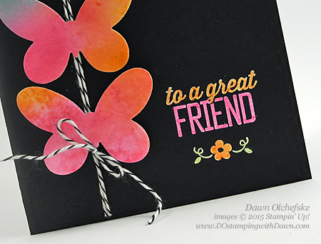 2015 Sale-a-Bration Simply Wonderful Butterfly card created by Dawn Olchefske for DOstamperSTARS Thursday Challenge #119 #dostamping #stampinup