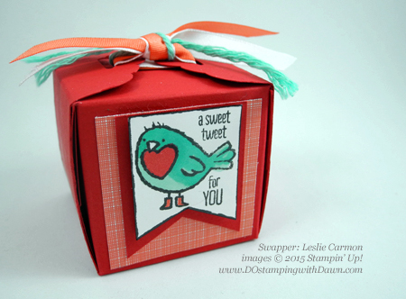Valentine's Day swaps from Stampin' Up! Leadership Conference shared by Dawn Olchefske #dostamping #2015OccasionCatalog