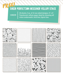 Sheer Perfection Designer Vellum Stack-new SAB products for March #dostamping #stampinup