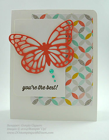 Sale-a-Bration Best Year Ever DSP Swaps shared by Dawn Olchefske #dostamping #stampinup (Georgia Giguere)
