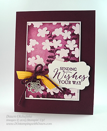 Butterfly Basics and SAB Irresistibly Yours DSP card created by Dawn Olchefske for DOstamperSTARS Thursday Challenge #123 #dostamping #stampinup