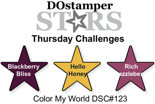 DOstamperSTARS Thursday Challenge #123 Color Combo #dostamping #stampinup