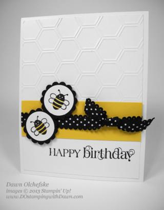 Spring Sampler Birthday Card by Dawn Olchefske #dostamping #weekly deals