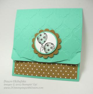Sketcched Birthday Gift Card Holder card by Dawn Olchefske #dostamping #weekly deals
