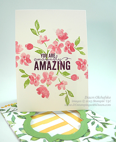 Painted Blooms Mini Treat Bag Window Card created by Dawn Olchefske #dostamping #stampinup