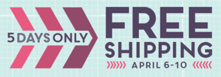 Free Shipping on Stampin' Up! orders April 6-10, shop with Dawn #dostamping