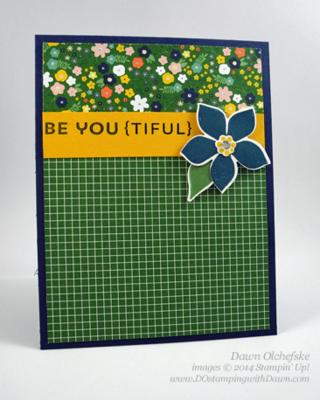 4/07 Weekly Deal Flower Fair Framelit card  by Dawn Olchefske #dostamping #stampinup